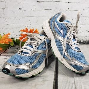 Brooks Running Shoe Launch Blue Silver Size 7